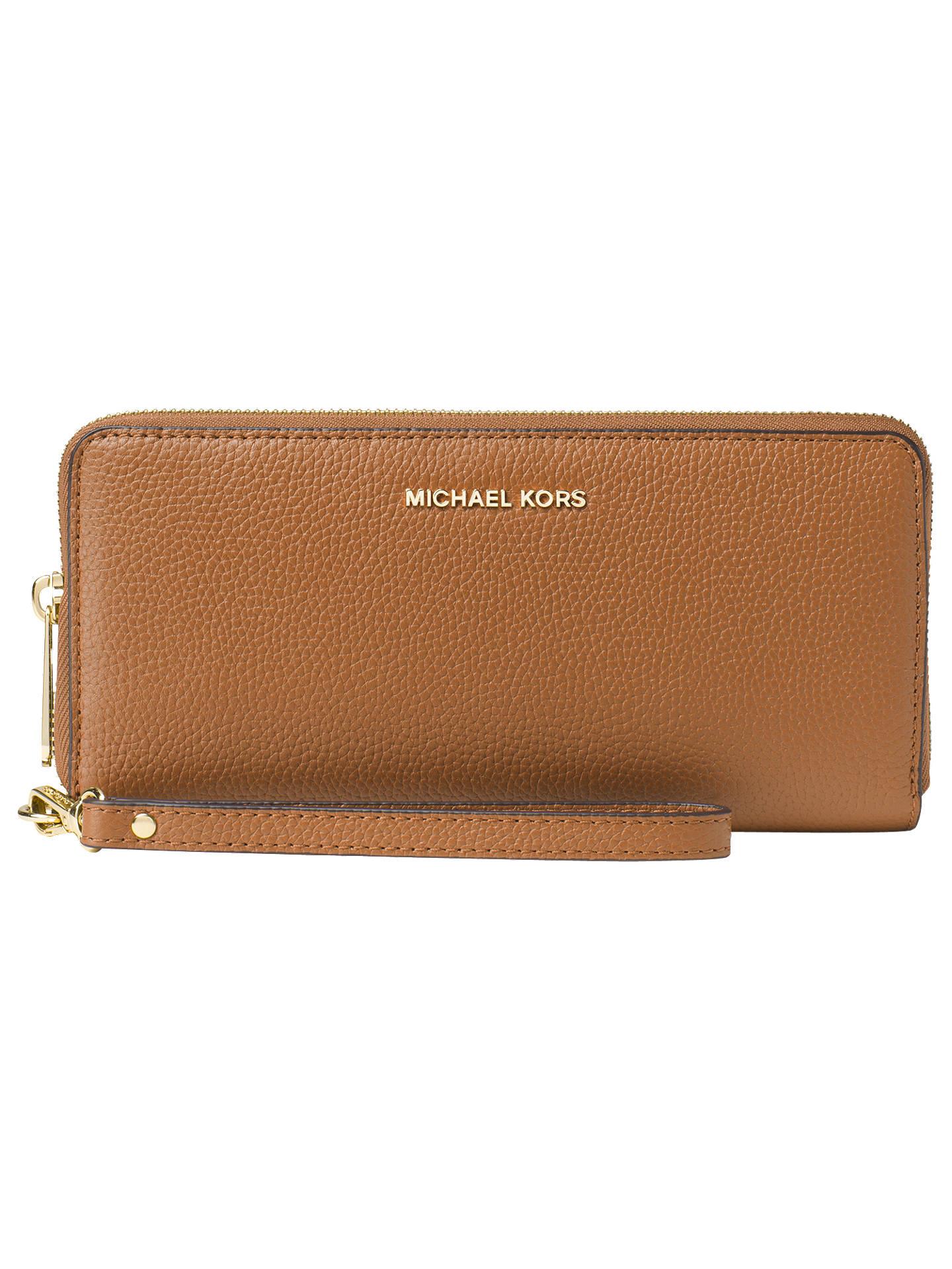 ede9d4eec869 Buy MICHAEL Michael Kors Money Pieces Leather Continental Purse, Acorn  Online at johnlewis.com ...