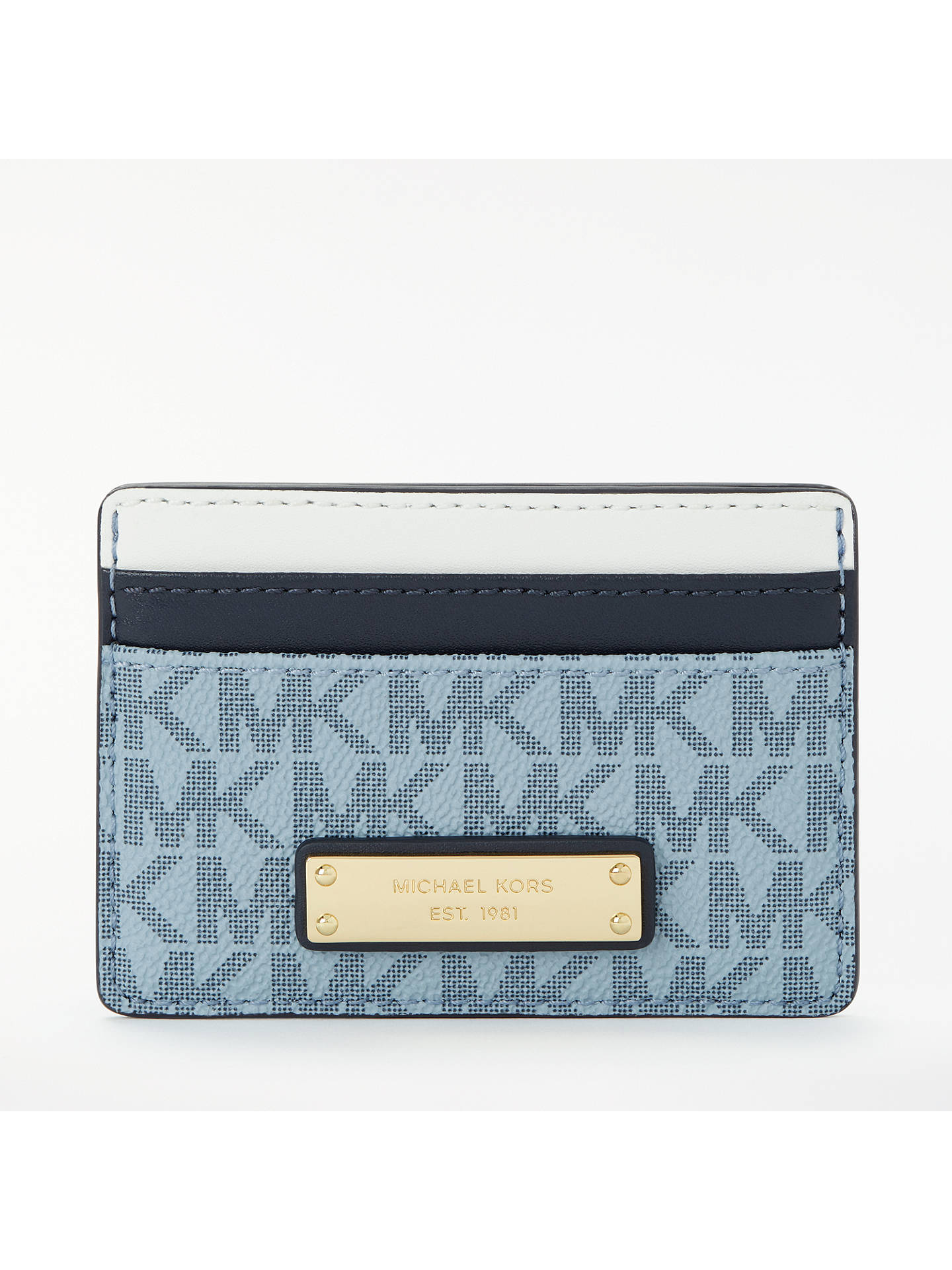 c1ea43f1964f Buy MICHAEL Michael Kors Money Pieces Logo Card Holder, Blue Online at  johnlewis.com ...