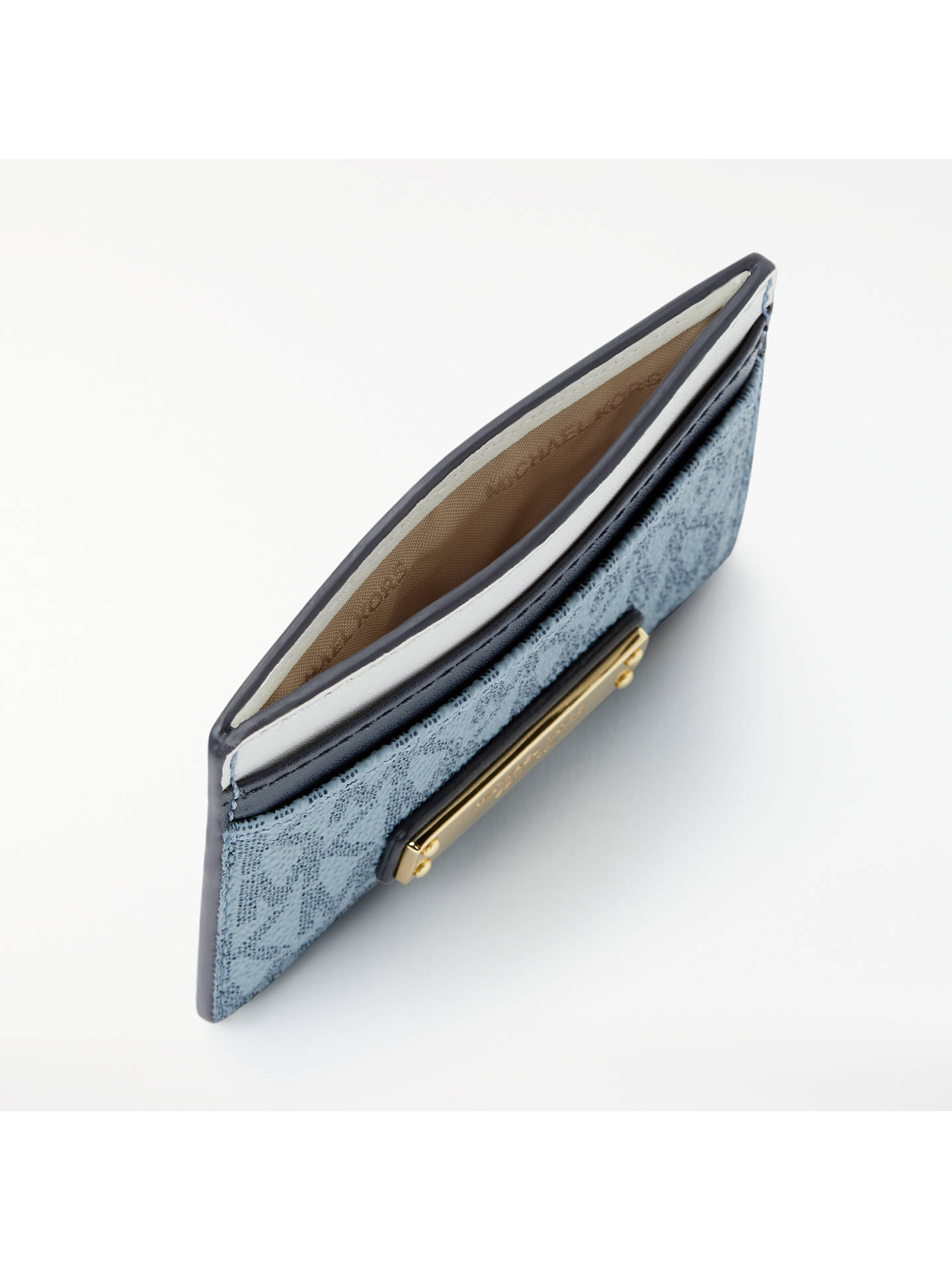 9609426ba400 ... Buy MICHAEL Michael Kors Money Pieces Logo Card Holder, Blue Online at  johnlewis.com ...