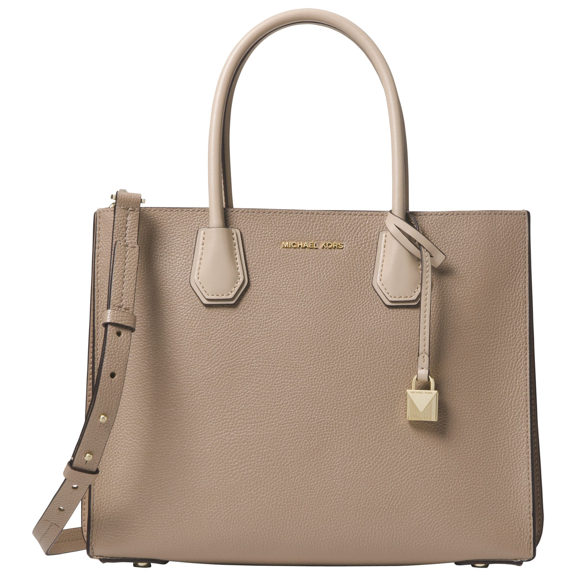 b121b7933324 MICHAEL Michael Kors Mercer Accordion Large Leather Tote Bag at John Lewis    Partners