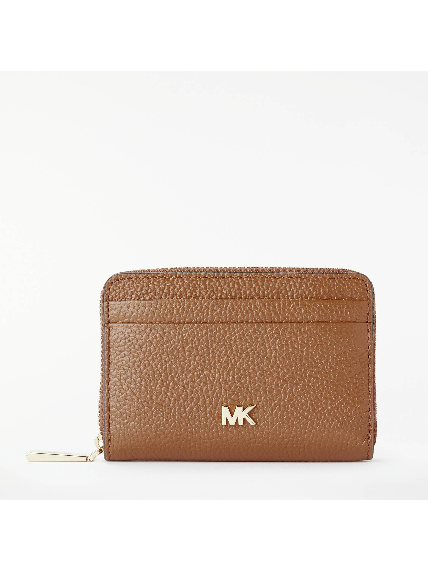 489153b495b844 Buy MICHAEL Michael Kors Money Pieces Leather Card Purse, Acorn Online at  johnlewis.com ...