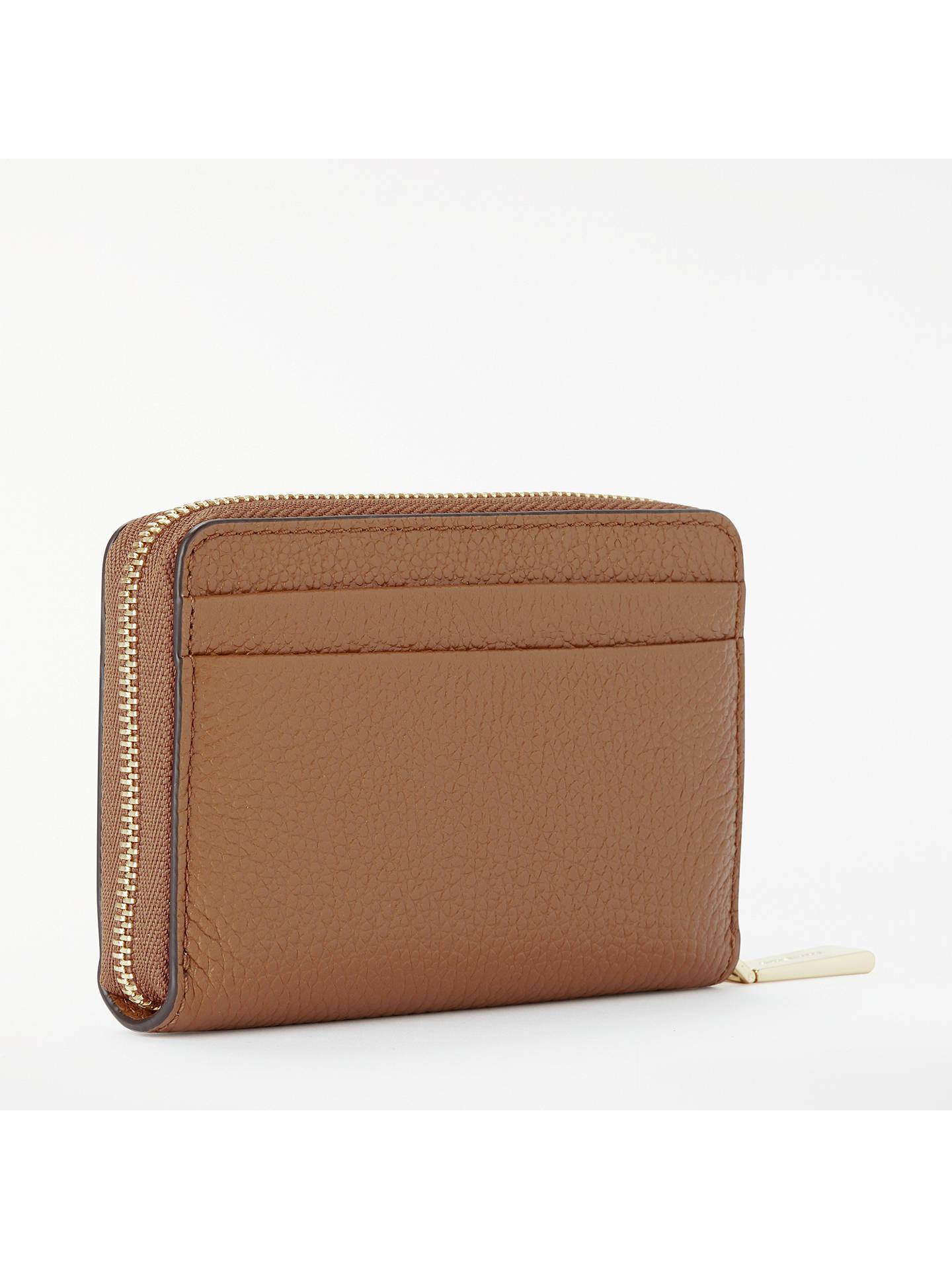 c0dfc9ff577354 ... Buy MICHAEL Michael Kors Money Pieces Leather Card Purse, Acorn Online  at johnlewis.com ...