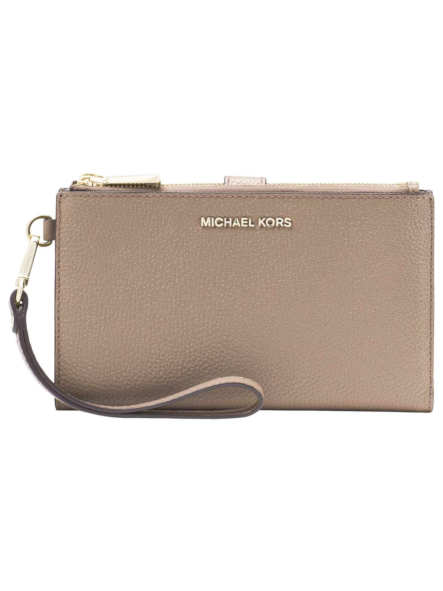 Michael Kors Pouches Clutches Leather Wristlet Purse Truffle Online At Johnlewis