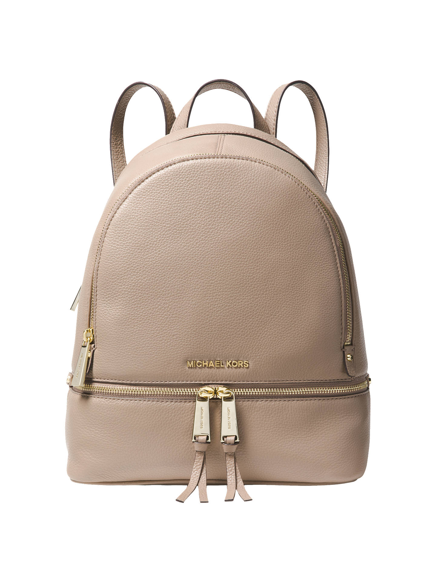 d160130c61eea MICHAEL Michael Kors Rhea Leather Medium Backpack at John Lewis ...