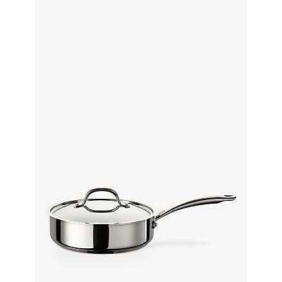 Circulon Ultimum Stainless Steel Saute Pan, 24cm, Silver