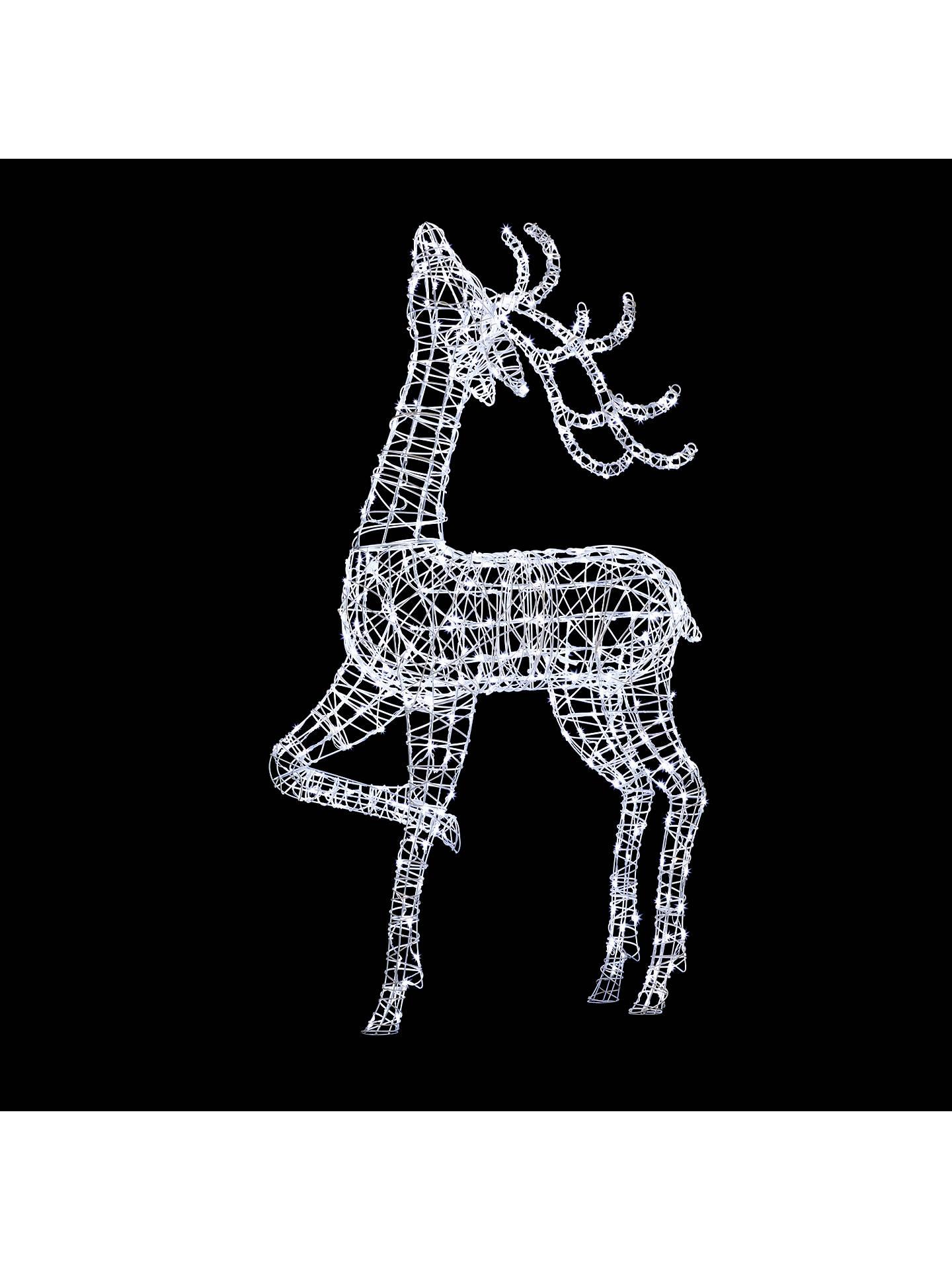 John Lewis Partners Proud Reindeer Led Christmas Light Extra Large Online At Johnlewis
