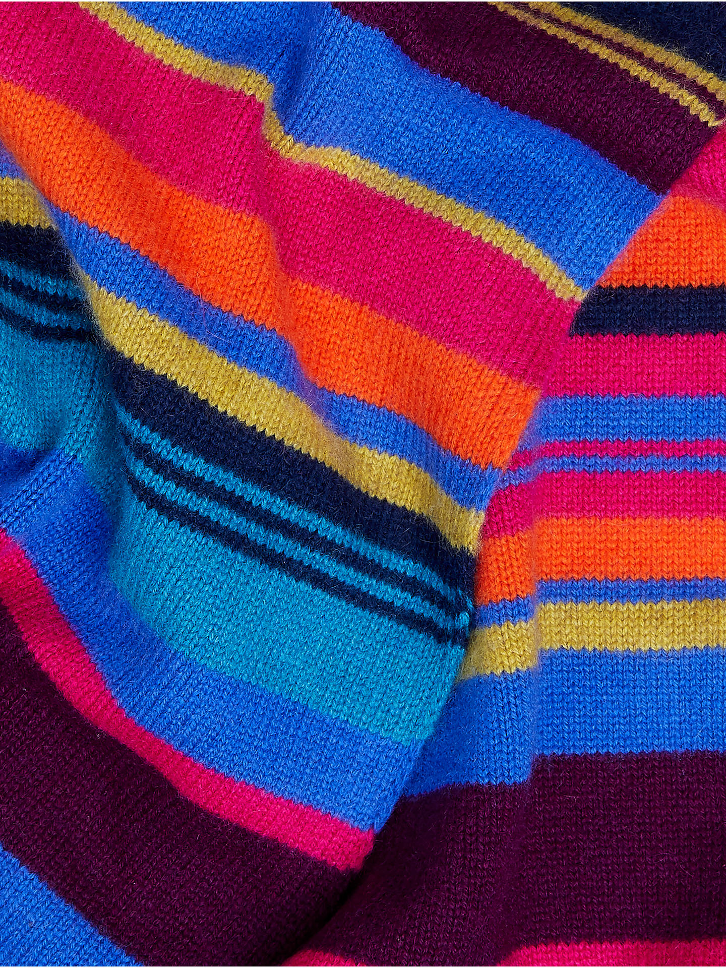 Buy John Lewis & Partners Cashmere Stripe Scarf, Multi Online at johnlewis.com