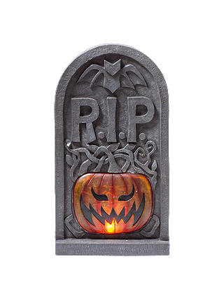 Buy Premier Decorations Lit Tombstone with Sound, 60cm Online at johnlewis.com