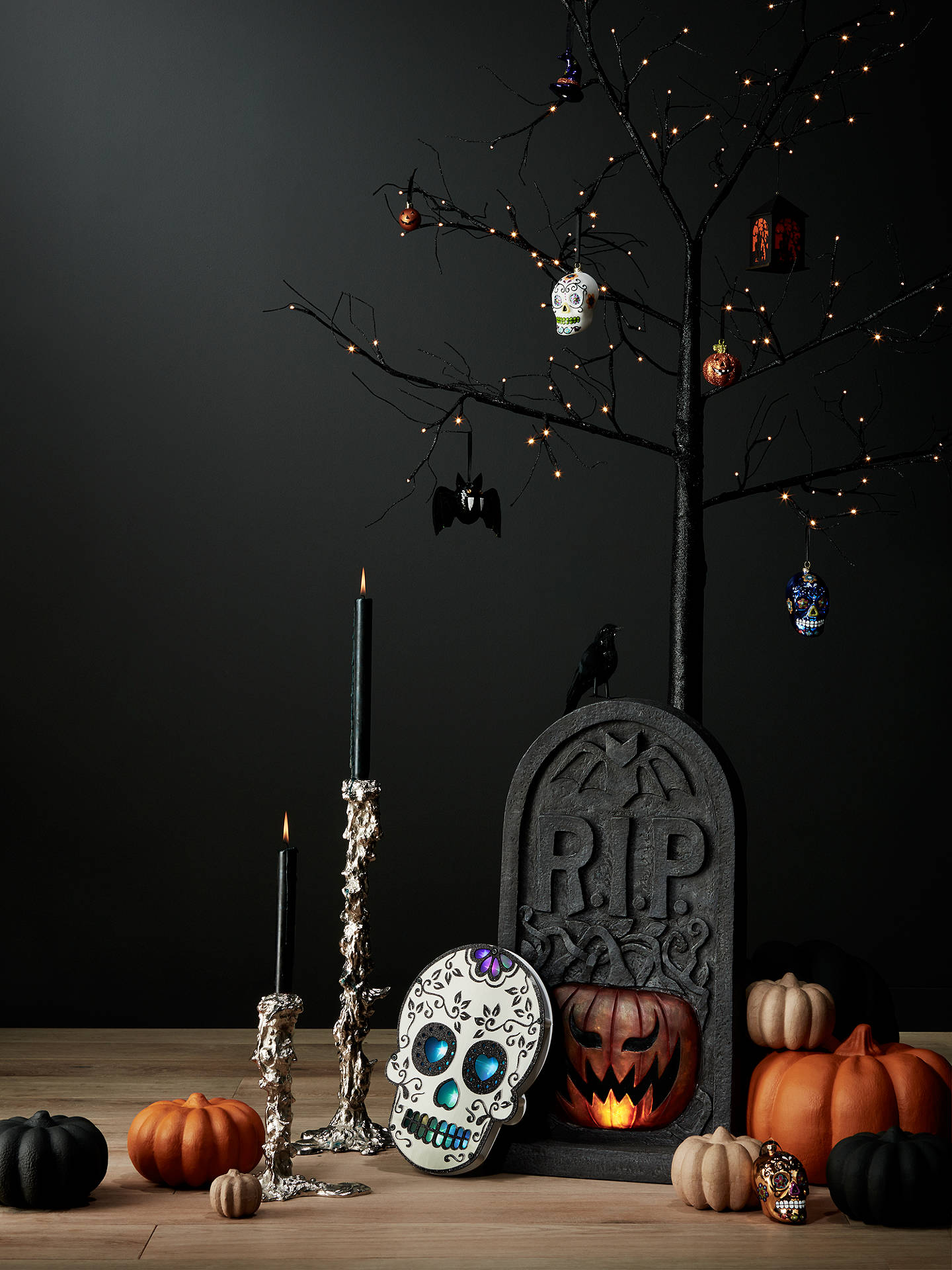 BuyPremier Decorations Lit Tombstone with Sound, 60cm Online at johnlewis.com