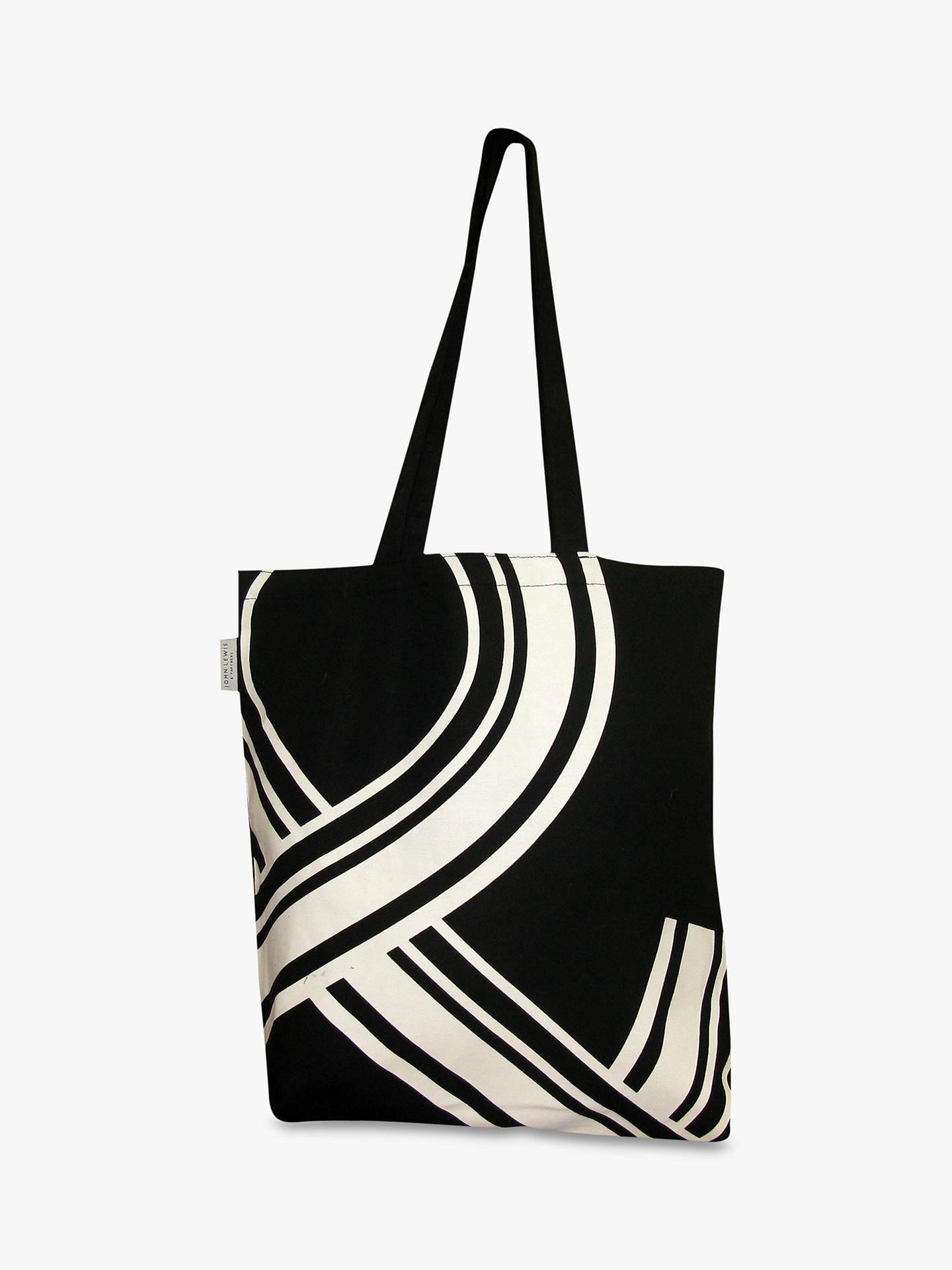 John Lewis Partners Cotton Tote Bag Black