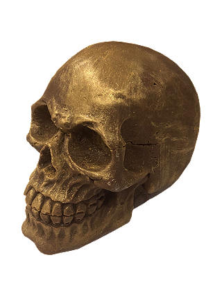 Buy Choc on Choc Gold Skull, 200g Online at johnlewis.com