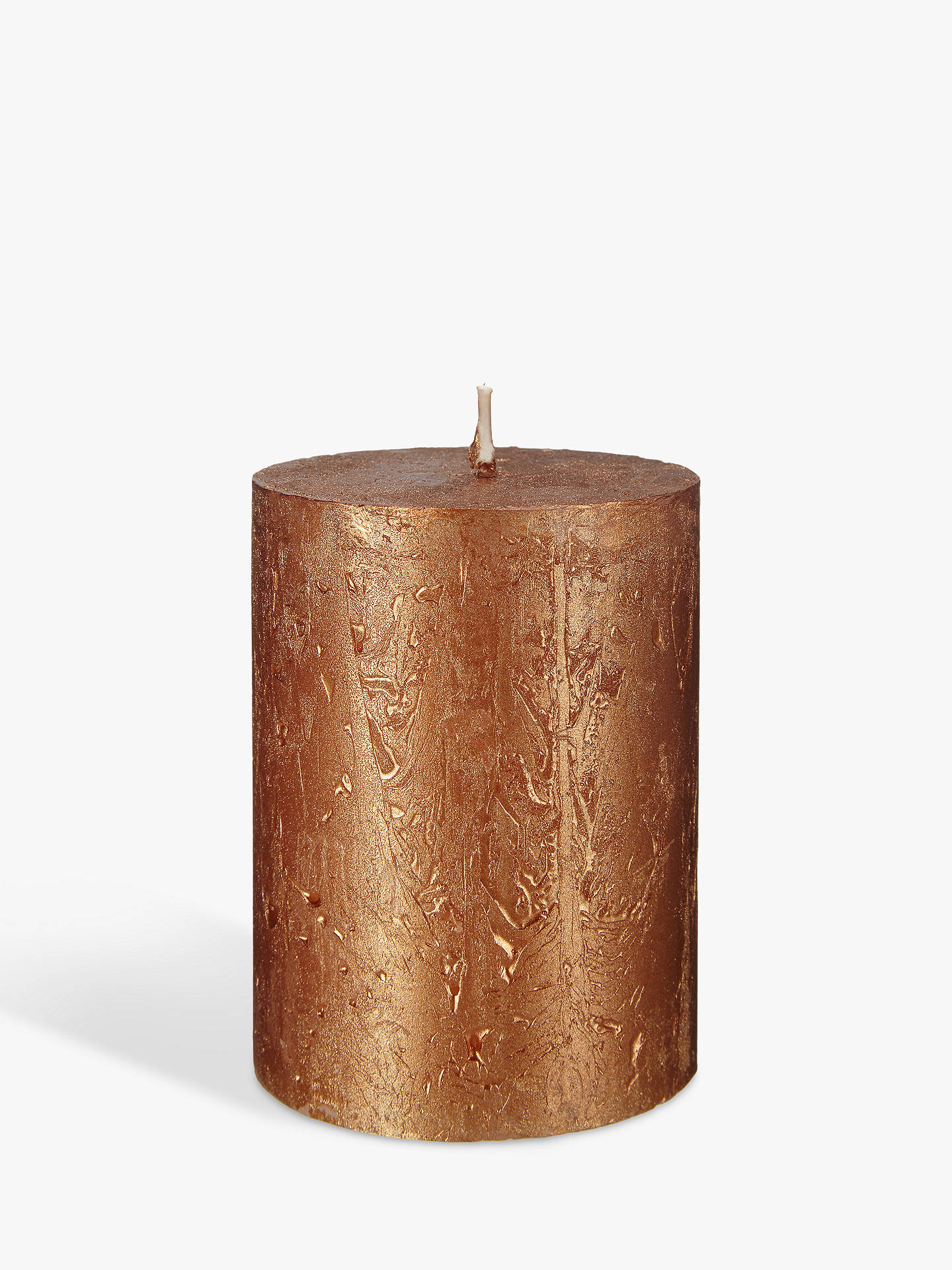 Buy John Lewis & Partners Rustic Pillar Candle, Copper Online at johnlewis.com