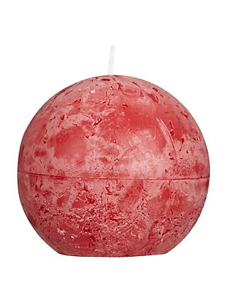 John Lewis & Partners Rustic Ball 10cm Candle