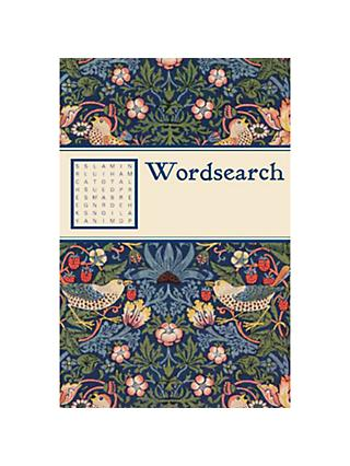 V&A William Morris Print Strawberry Thief Wordsearch Book