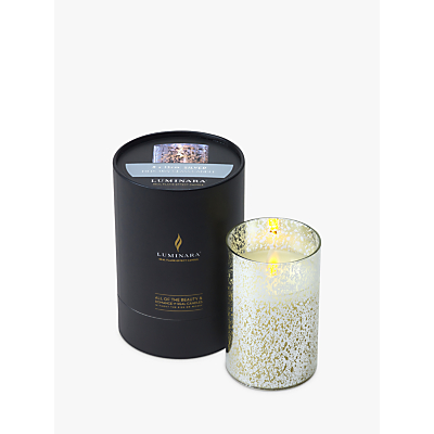 Luminara LED Mercury Glass Pillar Candle