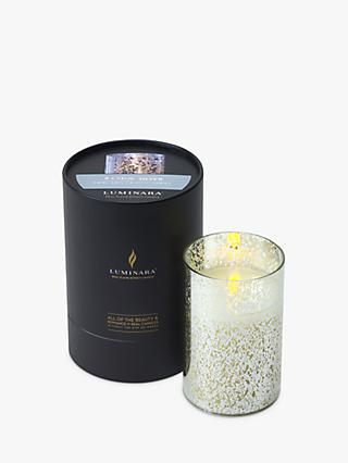 Luminara LED Mercury Glass Pillar Candle, 771g