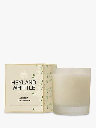 Heyland & Whittle Amber and Oakmoss Scented Candle, 690g