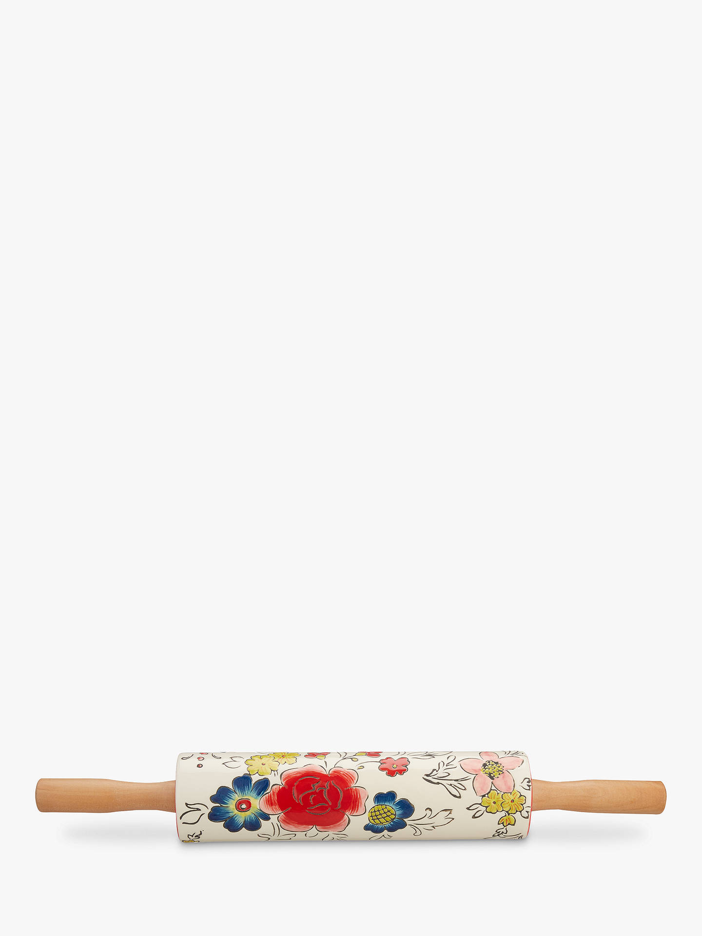 408a655a21 BuyMolly Hatch Stoneware Flower Rolling Pin