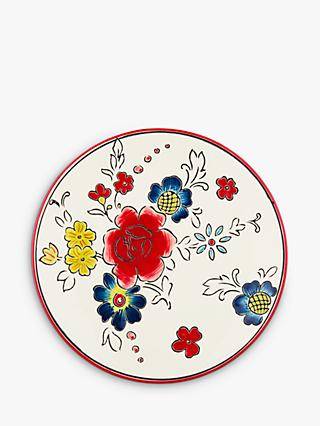Molly Hatch Flower Salad Plate, Red/Multi, Dia.21.5cm