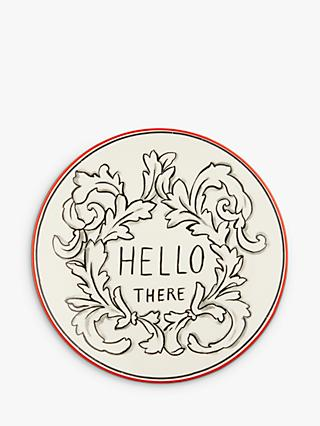Molly Hatch 'Hello There' Side Plate, Red/Multi, Dia.21.5cm