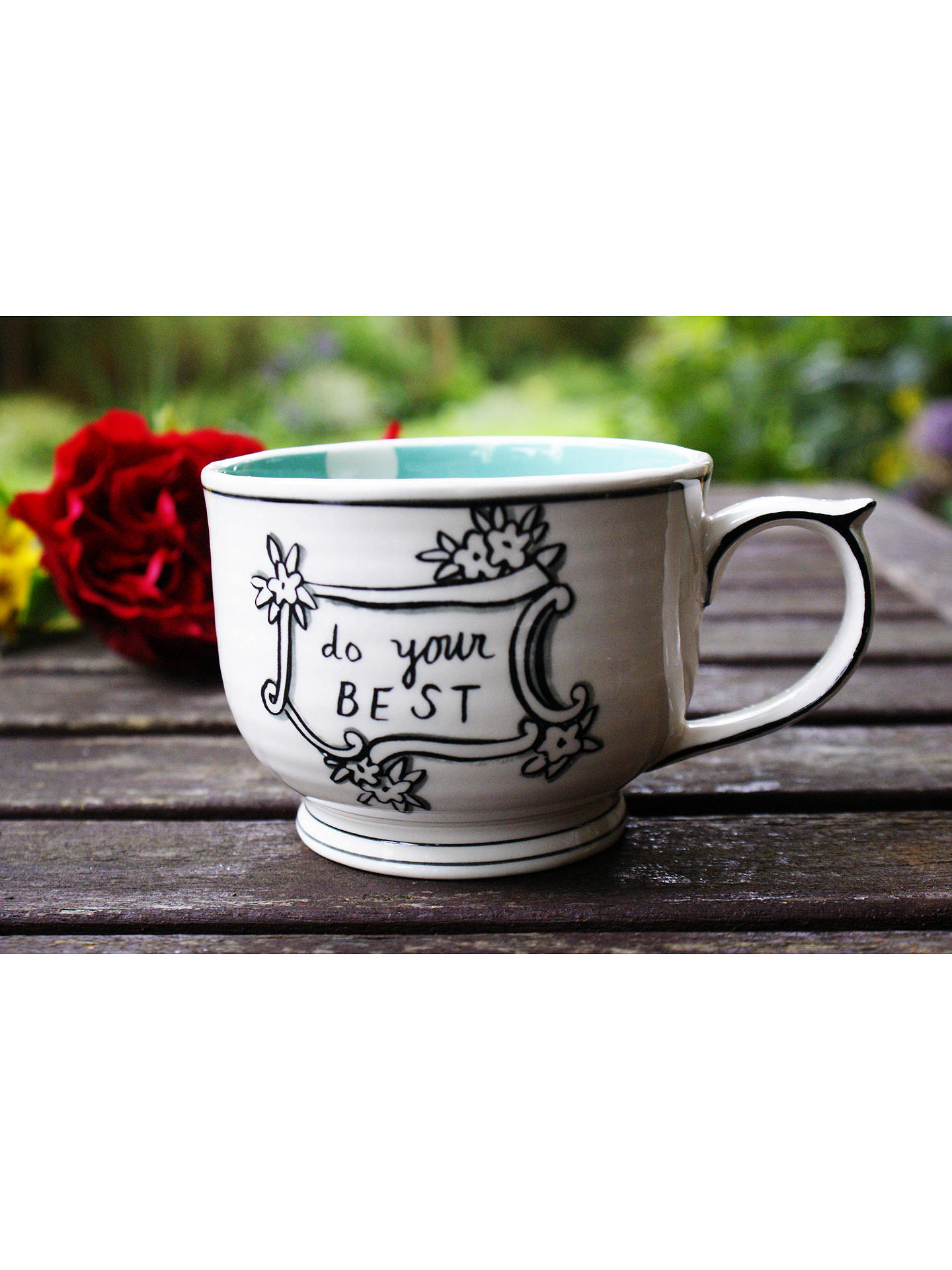 Buy Molly Hatch 'Do Your Best' Mug, Multi, 397ml Online at johnlewis.com