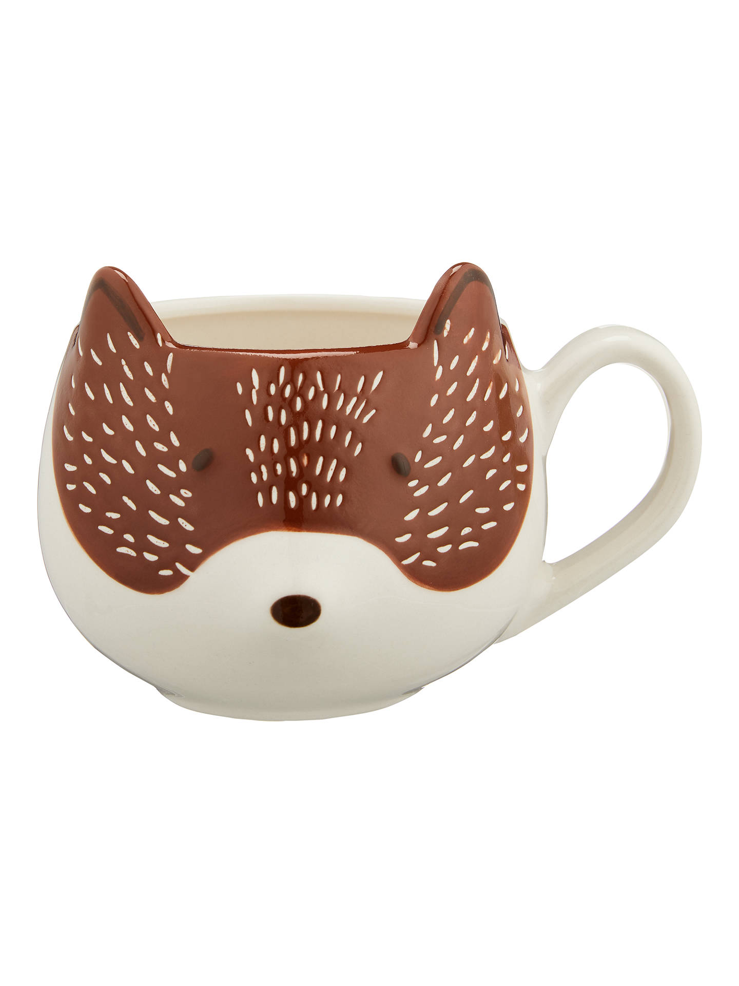 BuyJohn Lewis & Partners Fox Mug, 350ml, Brown Online at johnlewis.com