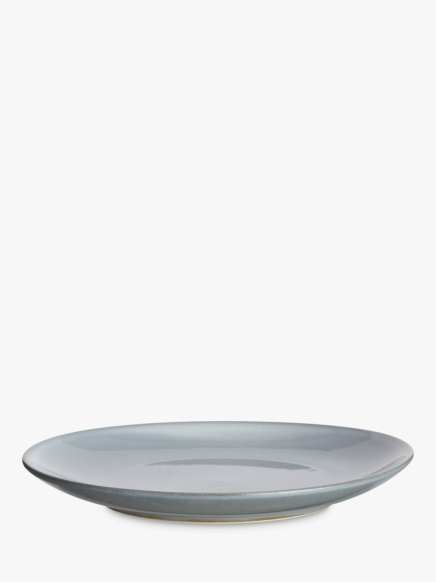 BuyJohn Lewis & Partners Glaze Double Side Plate, Dia.21cm, Blue Online at johnlewis.com
