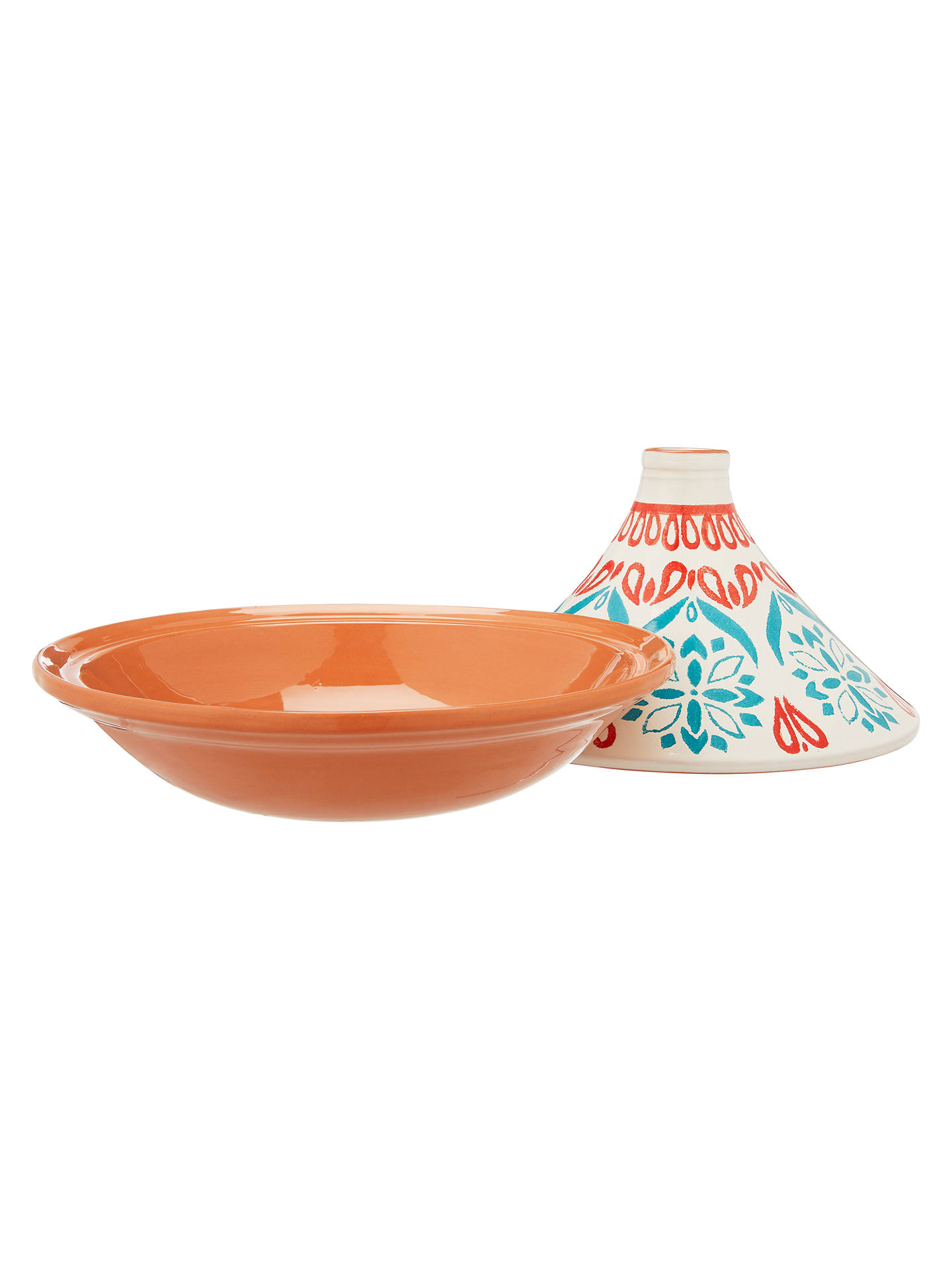 BuyJohn Lewis & Partners Alfresco Terracotta Patterned Tagine, White/Multi Online at johnlewis.com