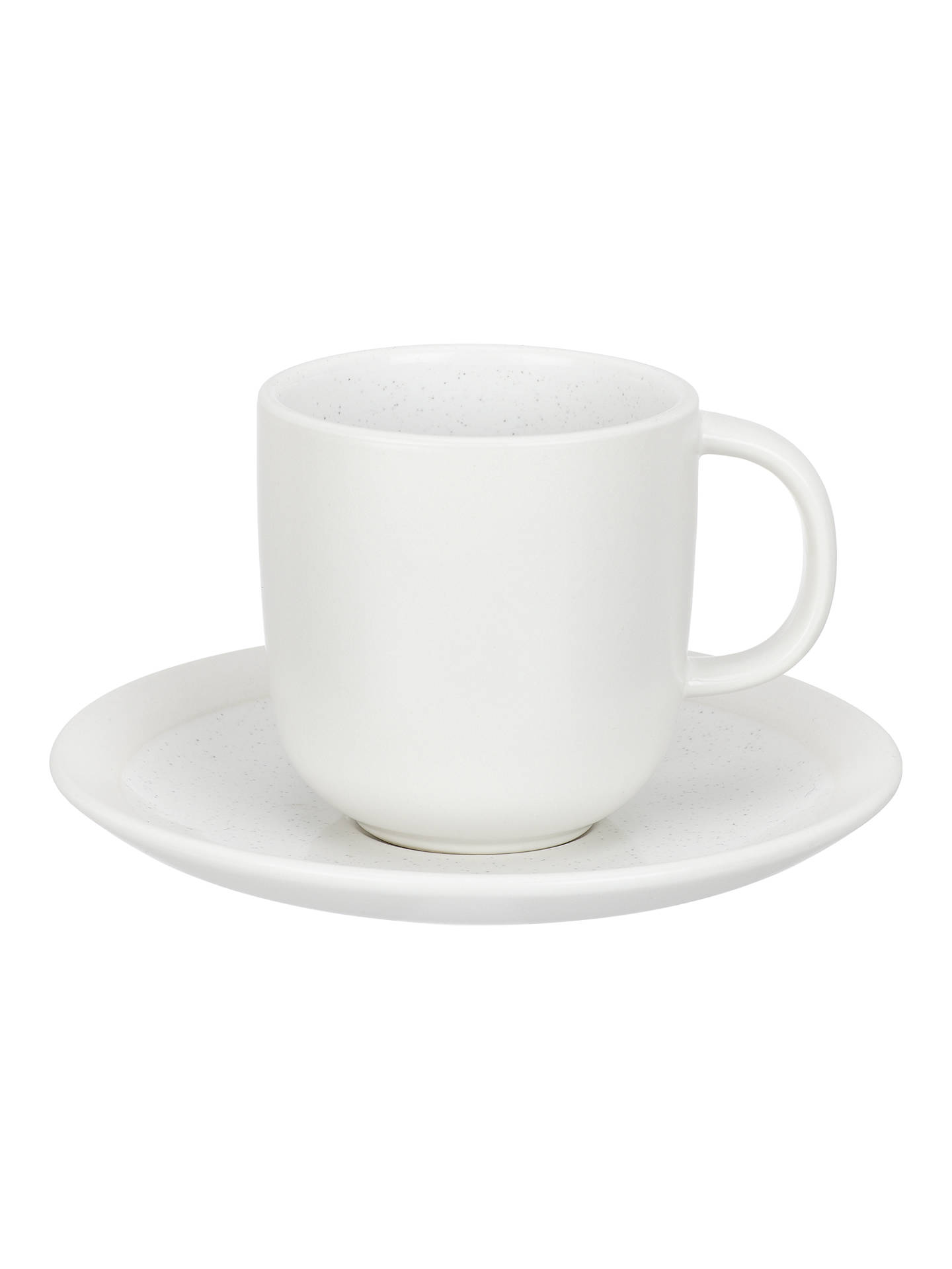 Buy John Lewis & Partners Glaze Speckle Cup and Saucer, 180ml, White Online at johnlewis.com