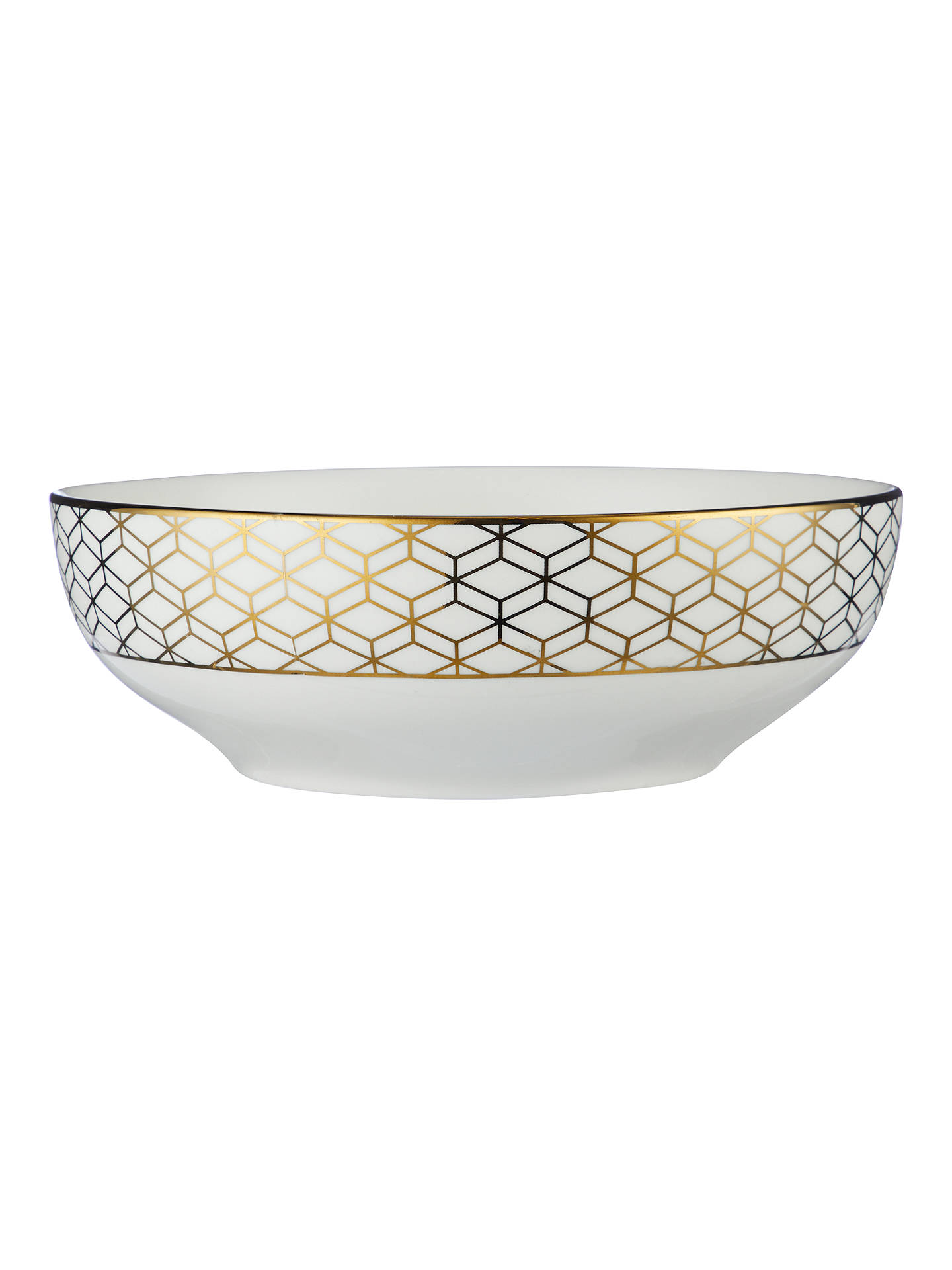 BuyJohn Lewis & Partners Geometric Decorated Serving Bowl, Gold, 23cm Online at johnlewis.com