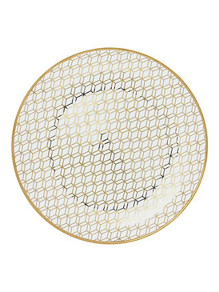 Buy John Lewis & Partners Geometric Decorated Platter, Gold, 31cm Online at johnlewis.com