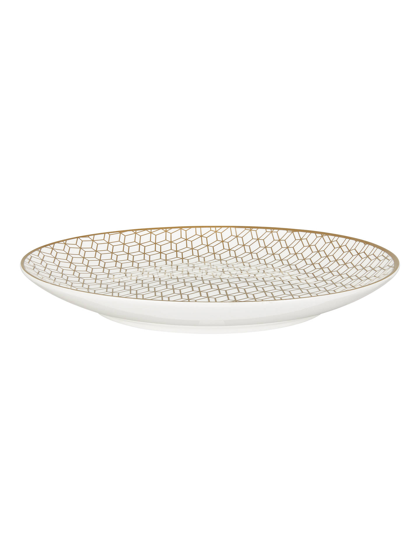 BuyJohn Lewis & Partners Geometric Decorated Platter, Gold, 31cm Online at johnlewis.com