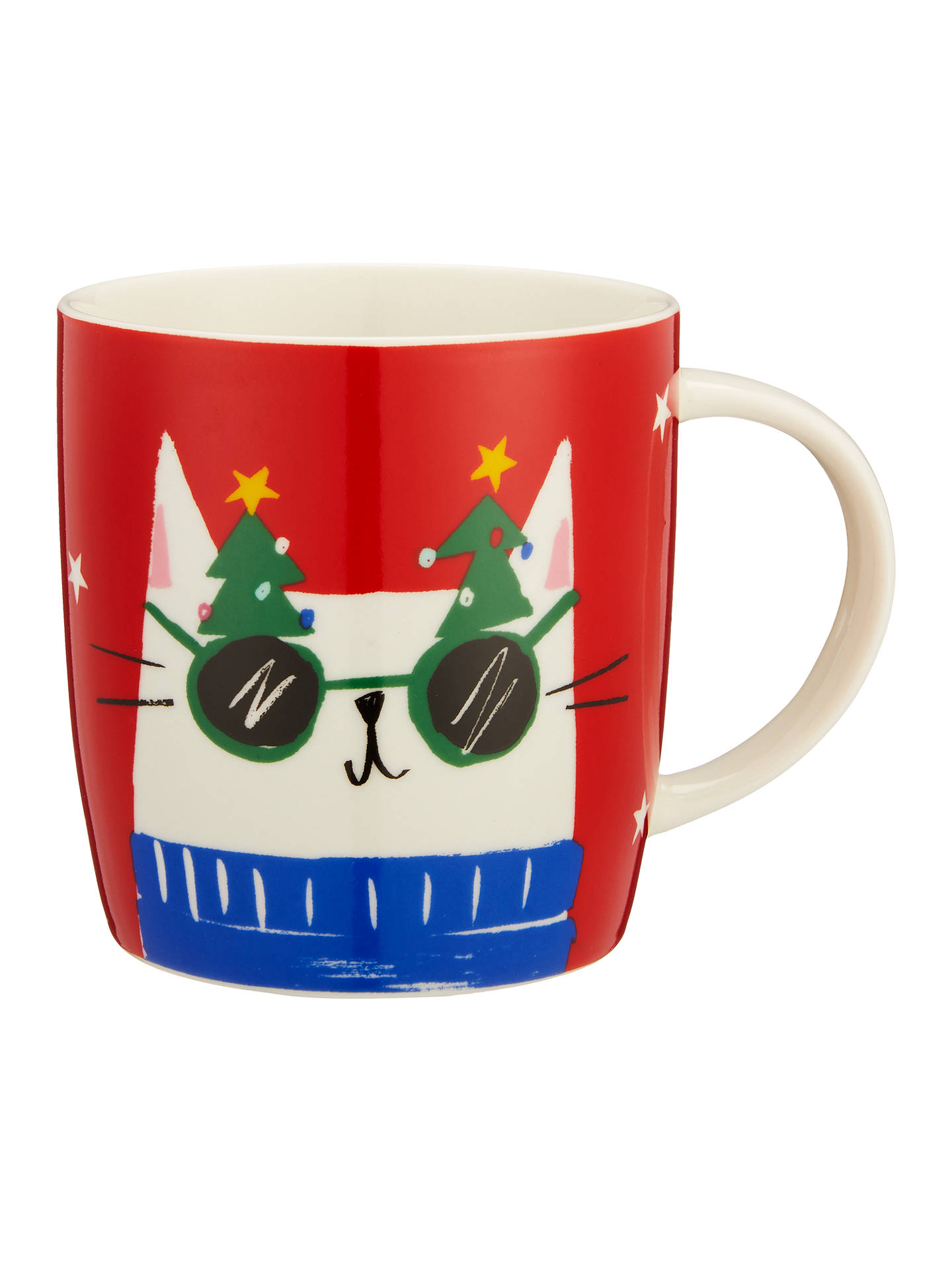 BuyJohn Lewis & Partners Cat China Mug In A Money Box Tin, Red, 350ml Online at johnlewis.com