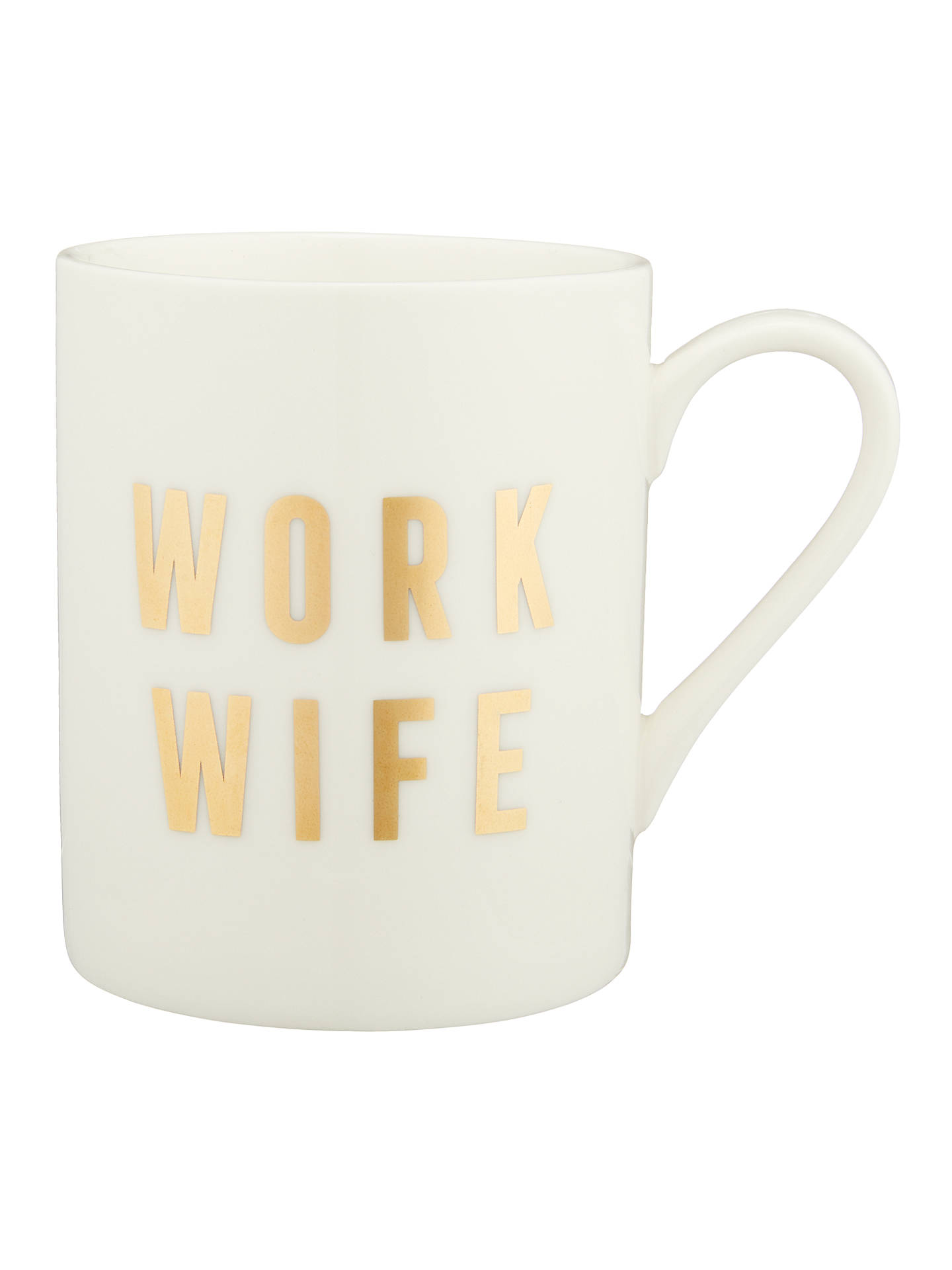 edbe21631a2 John Lewis & Partners Work Wife Mug, 225ml, White/Gold