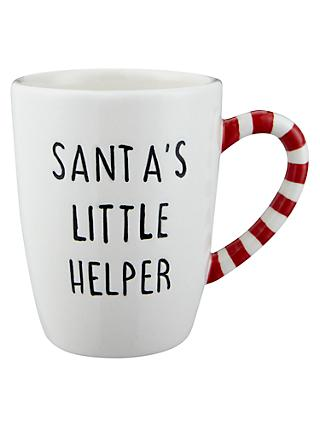 John Lewis & Partners Santa's Little Helper Mug, 150ml, White/Multi