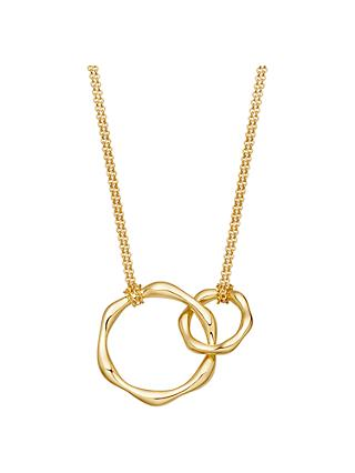 Missoma Double Hoop Magma Pendant Necklace, Gold