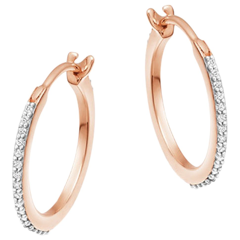Missoma Missoma Cubic Zirconia Small Hoop Earrings, Gold
