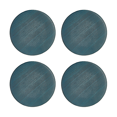 Design Project by John Lewis No.176 Stained Wood Coaster, Blue, Set of 4