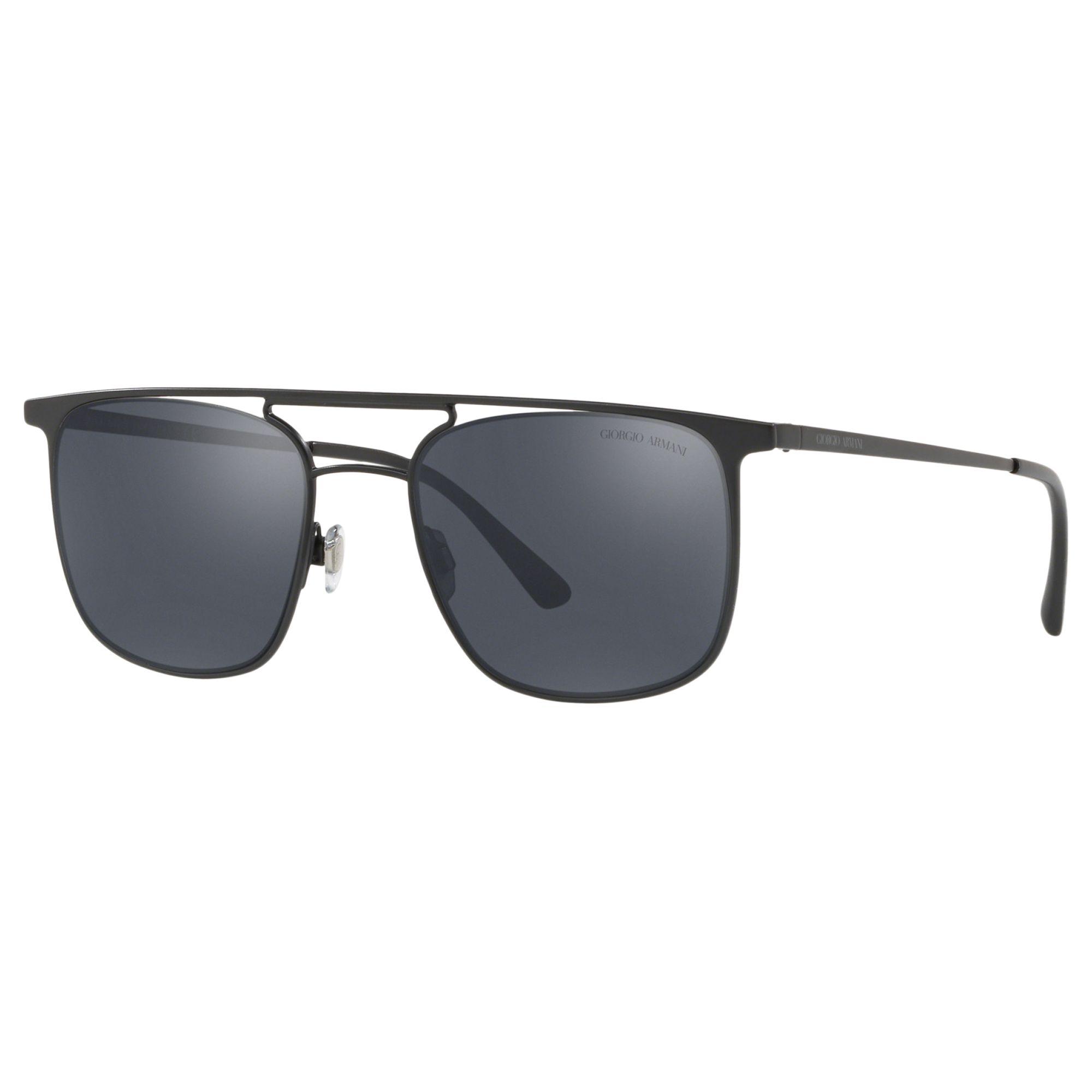 Giorgio Armani Giorgio Armani AR6076 Men's Square Sunglasses, Matte Black/Grey