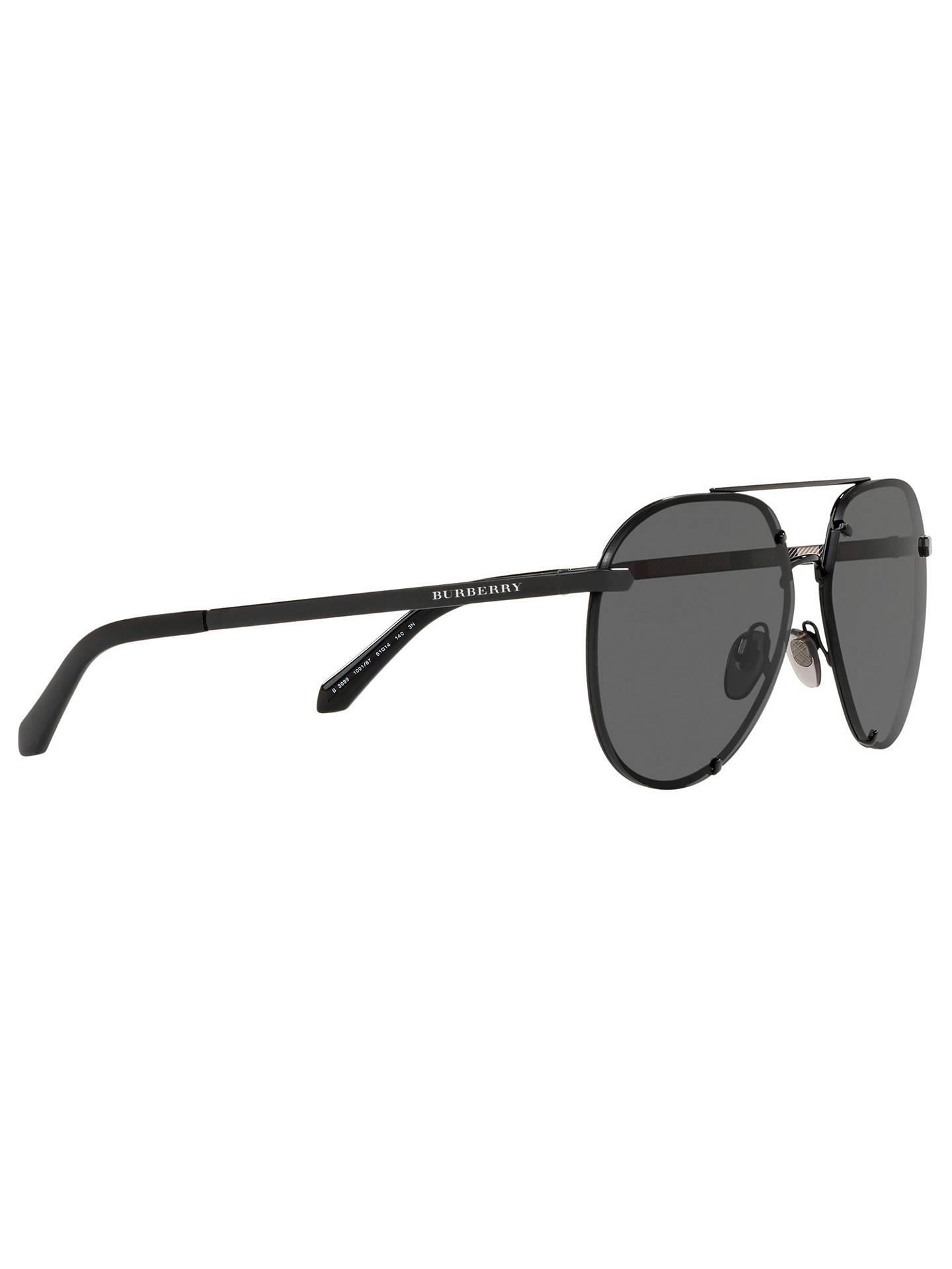 5a7401f3a ... Buy Burberry BE3099 Women's Aviator Sunglasses, Black Online at  johnlewis.com