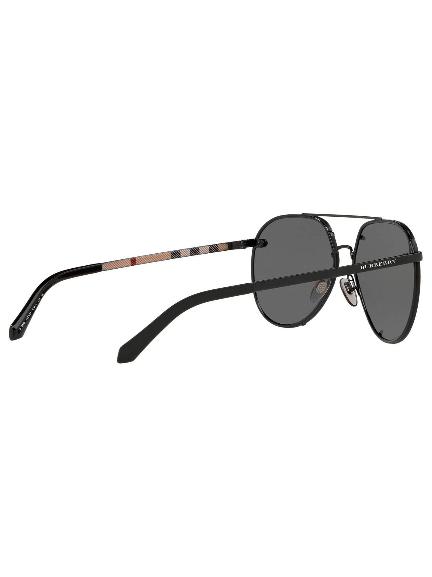 c9f10f6f3 ... Buy Burberry BE3099 Women's Aviator Sunglasses, Black Online at  johnlewis. ...