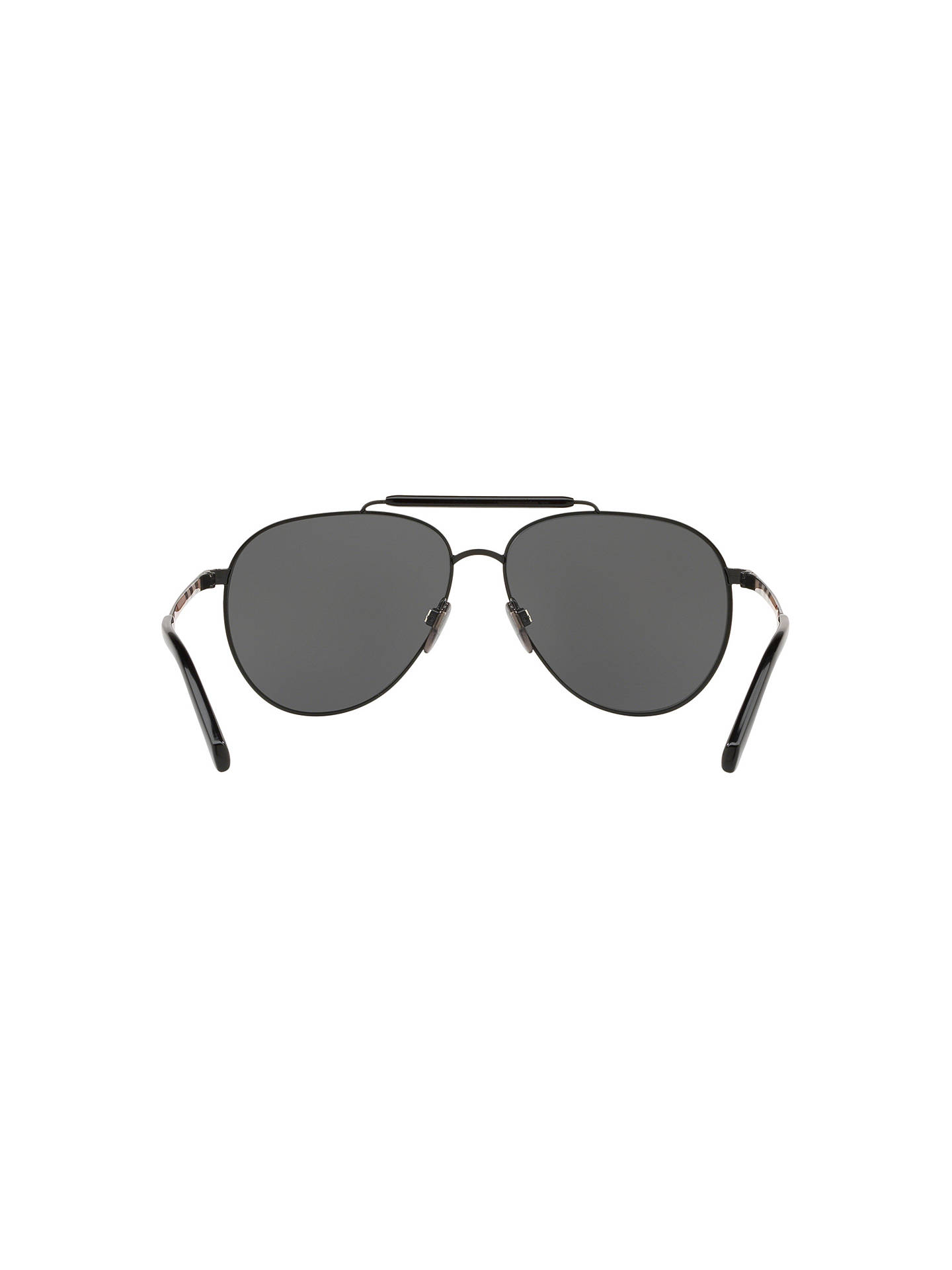 BuyBurberry BE3097 Men's Aviator Sunglasses, Grey Online at johnlewis.com