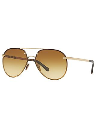 Burberry BE3099 Women's Aviator Sunglasses