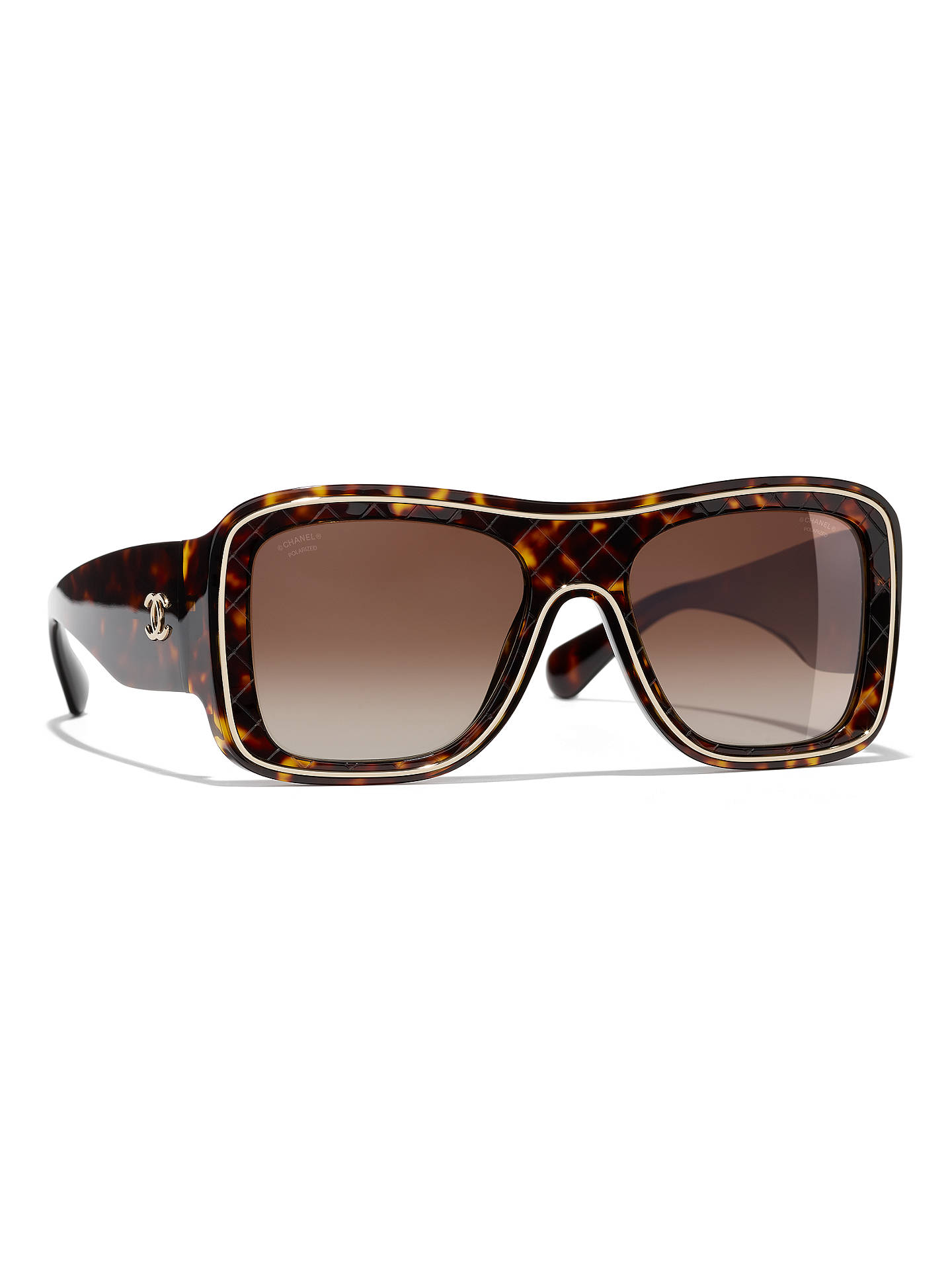 149e3c988a7 BuyCHANEL Square Sunglasses CH5395 Tortoiseshell Brown Gradient Online at  johnlewis.com ...