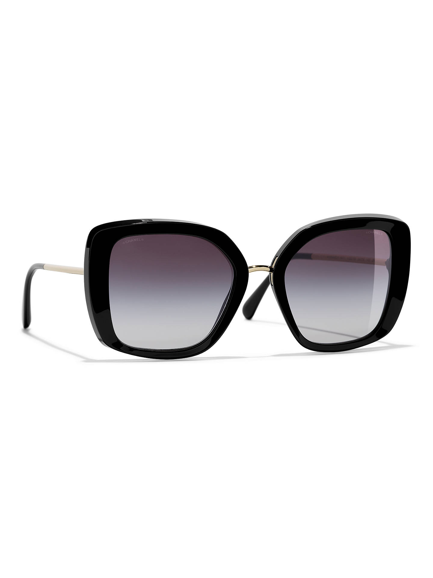 0a682fa5b51f Buy CHANEL Square Sunglasses CH5401 Dark Brown Online at johnlewis.com ...