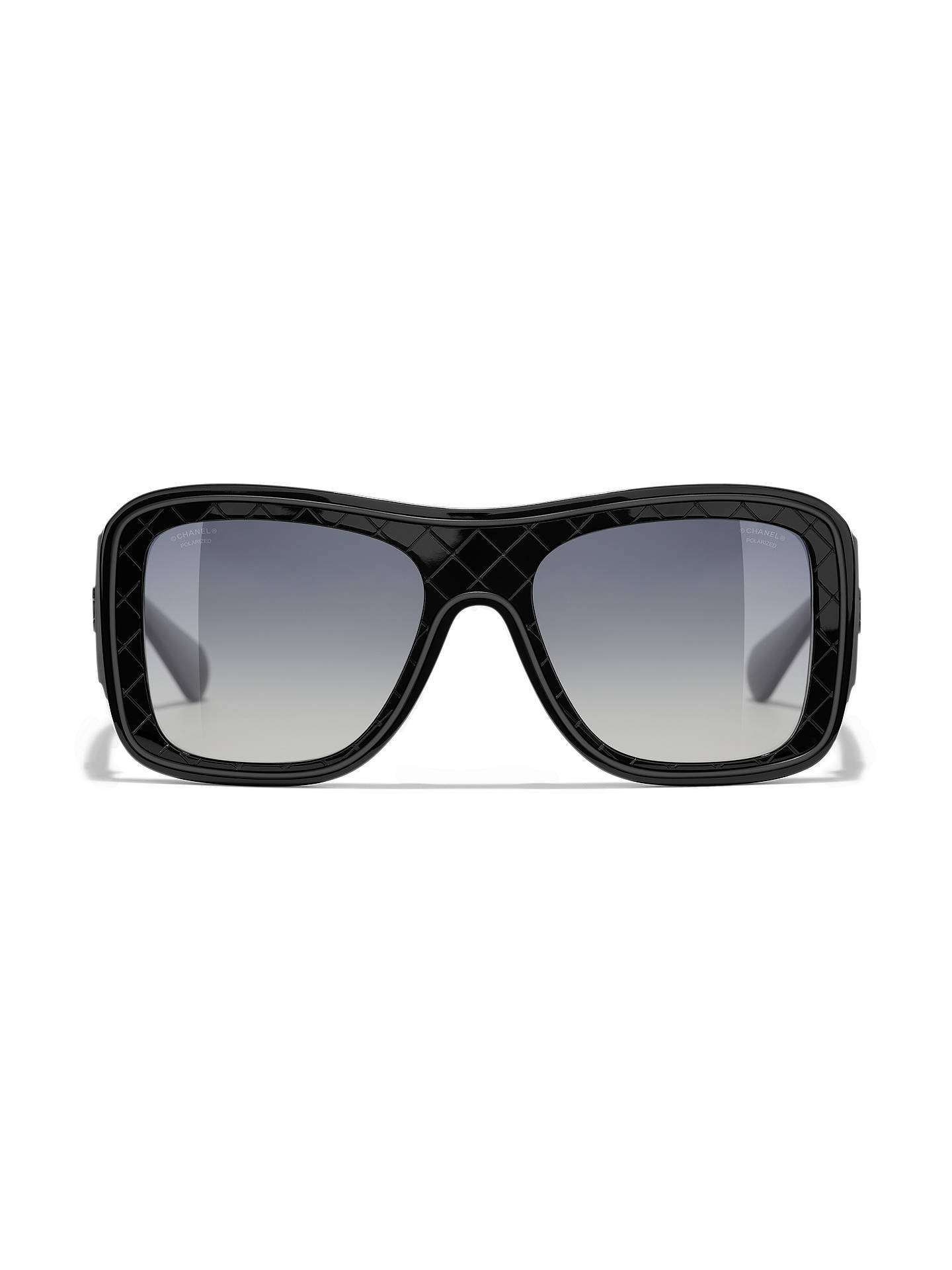 Buy CHANEL Polarised Square Sunglasses CH5395 Black/Grey Gradient Online at johnlewis.com