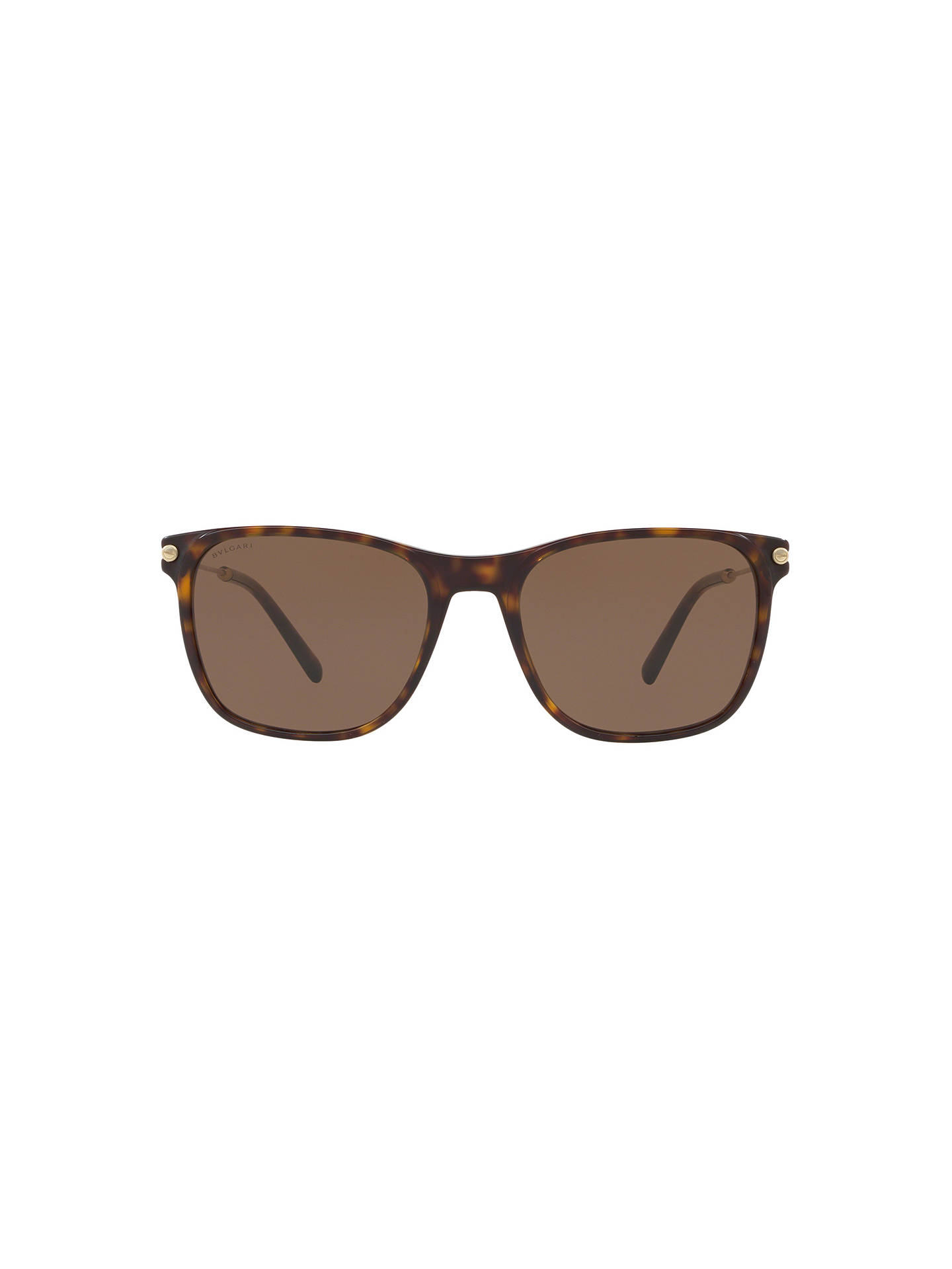 BuyBVLGARI BV7032 Men's D-Frame Sunglasses, Tortoise/Brown Online at johnlewis.com