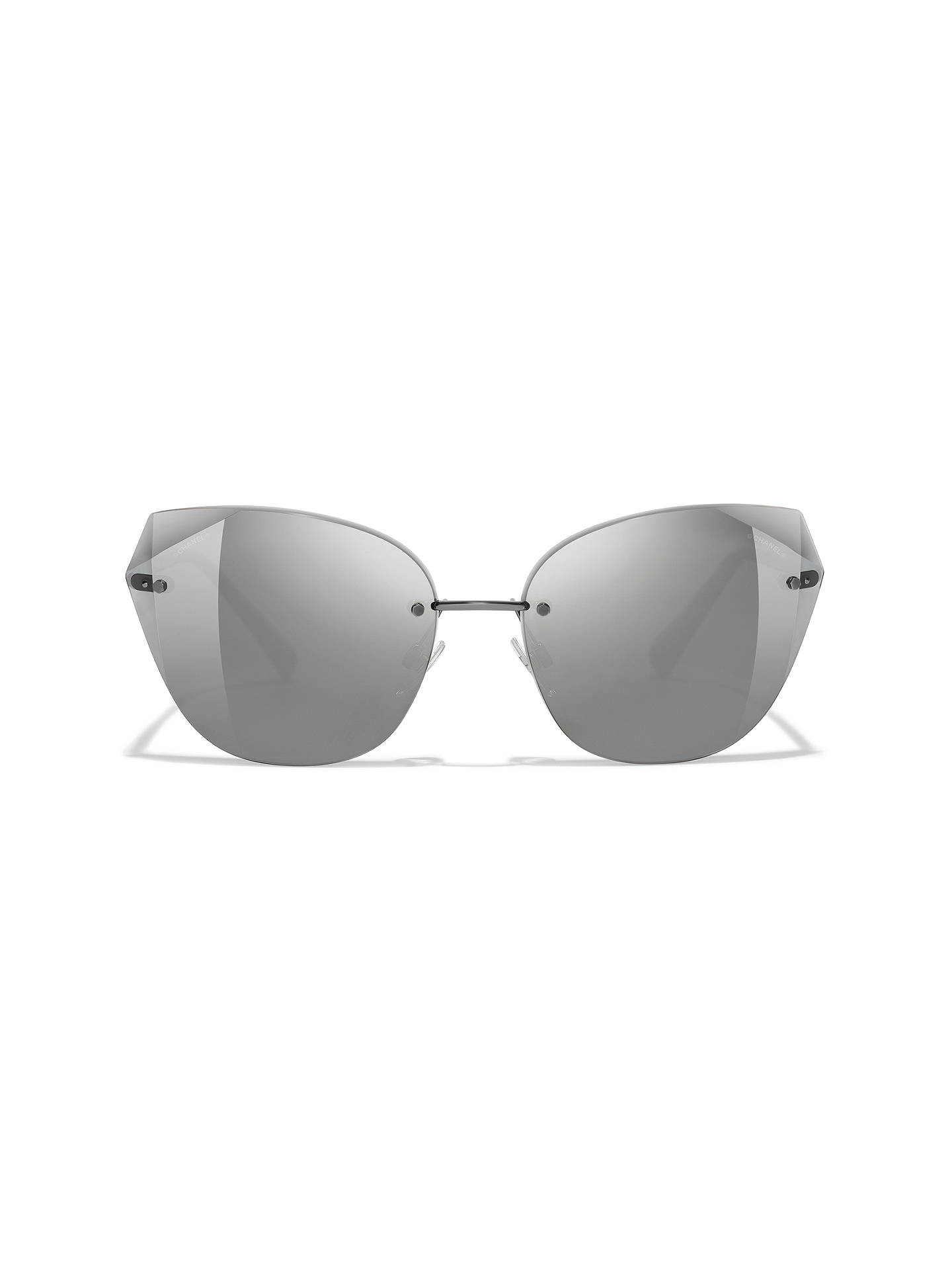 BuyCHANEL Cat Eye Sunglasses CH4237 Grey/Mirror Silver Online at johnlewis.com