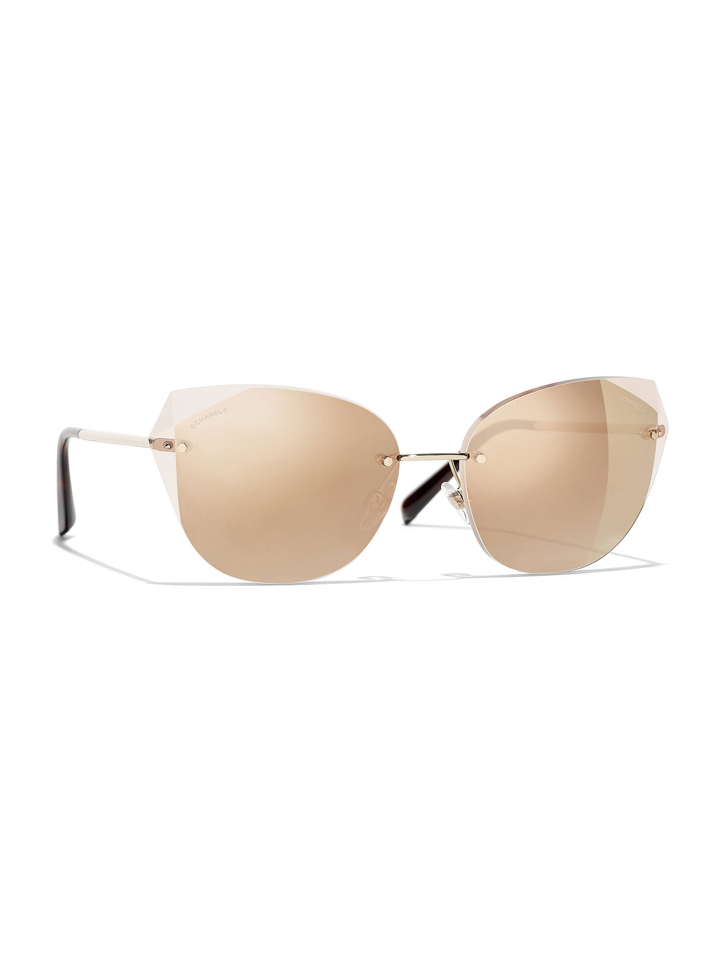 6882c24c48 BuyCHANEL Cat Eye Sunglasses CH4237 Gold Brown Gradient Online at  johnlewis.com ...