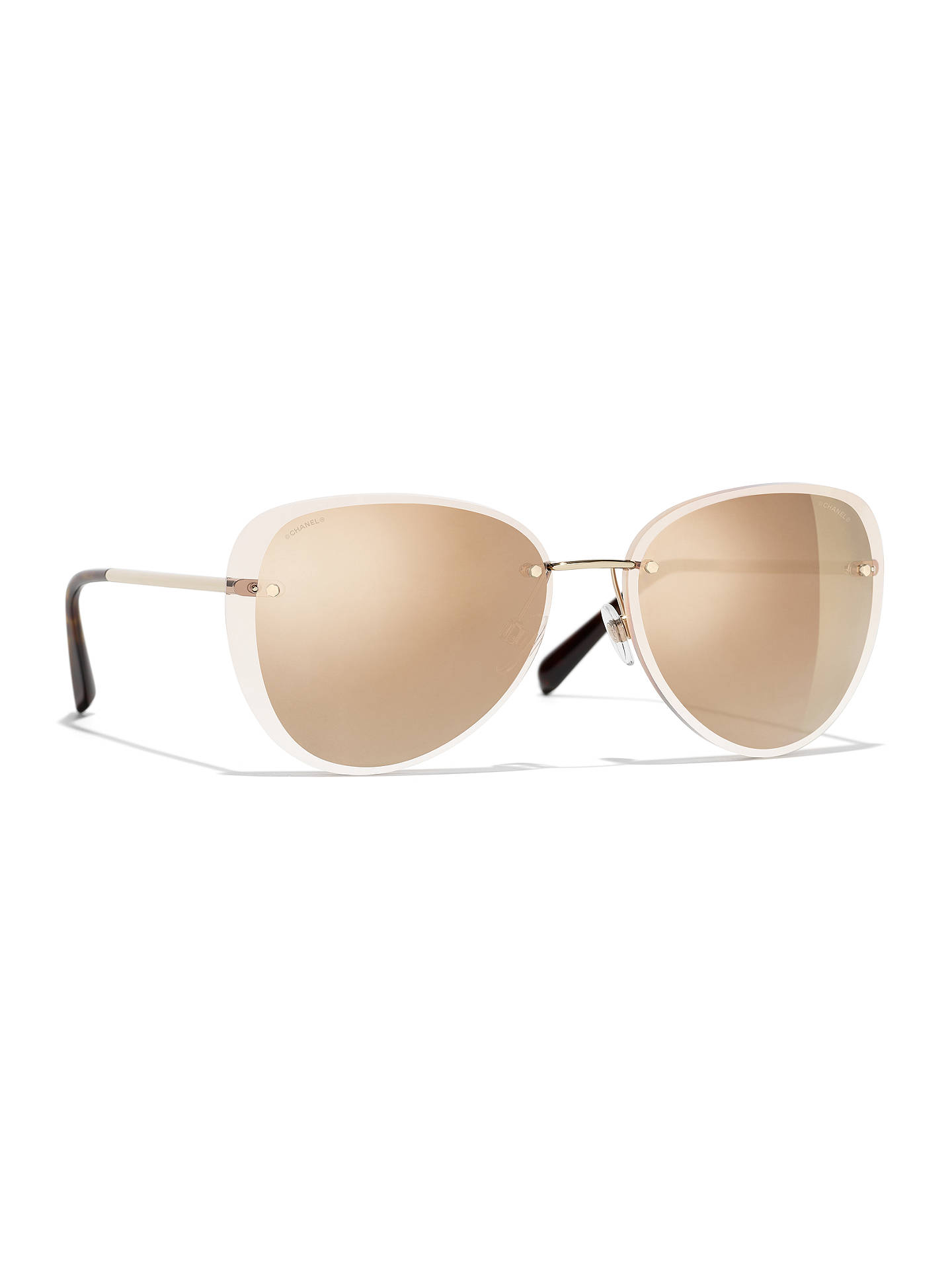 fdd996fa08 BuyCHANEL Pilot Sunglasses CH4239 Gold Brown Gradient Online at  johnlewis.com ...